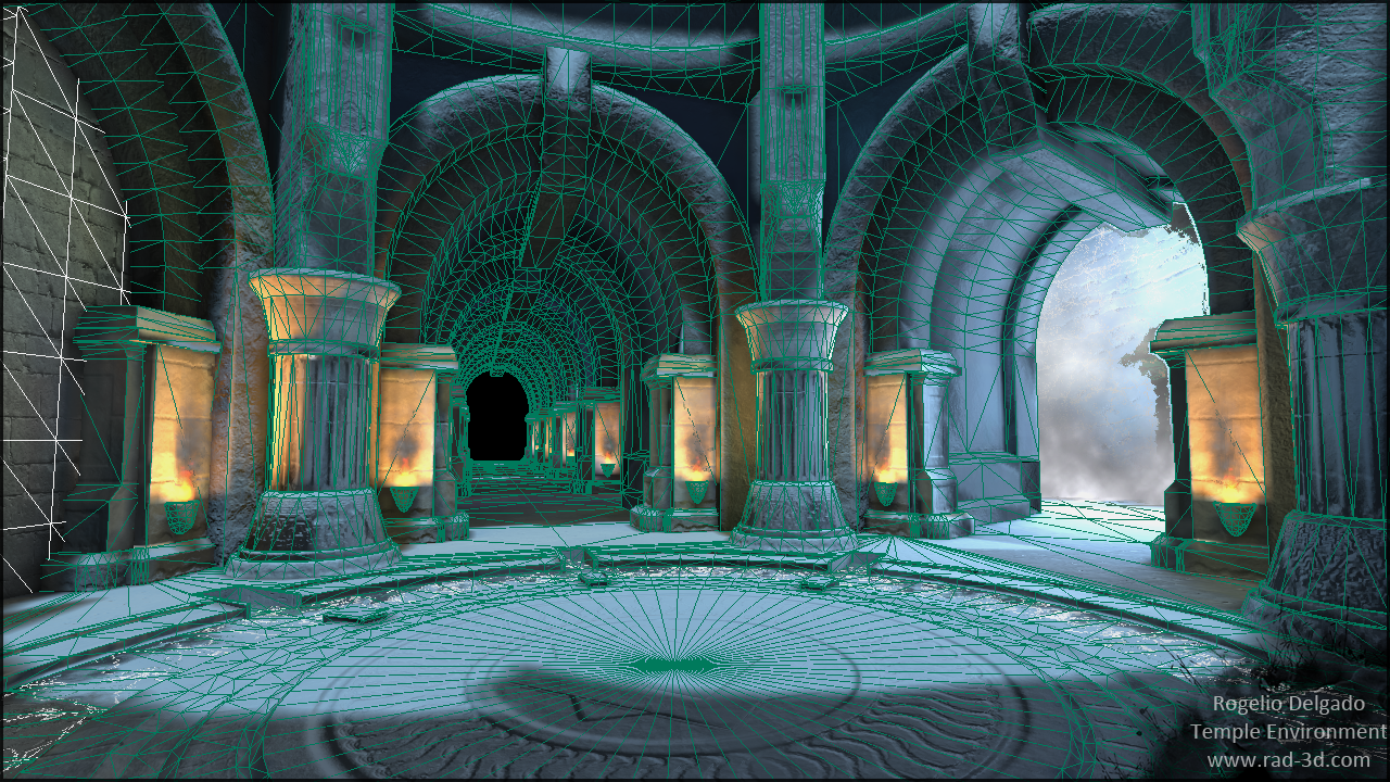 udk  water temple environment  u2014 polycount